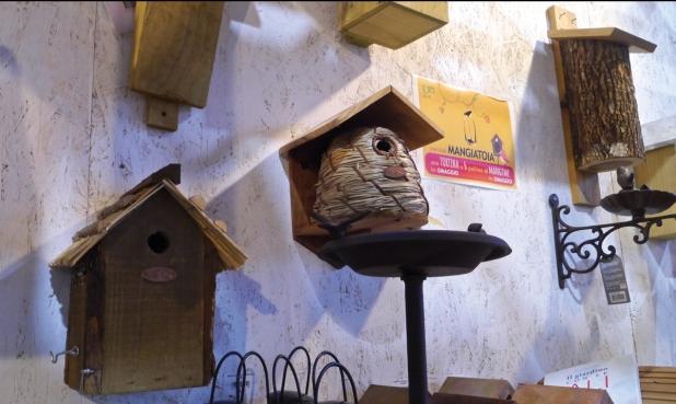 Casette e mangime specifico per aiutare i piccoli volatili a nidificare e proteggersi dal freddo